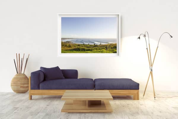 Line Up | Lennox Head - Box Frame (White) - With Border