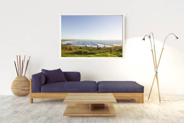 Line Up | Lennox Head - Box Frame (White) - No Border