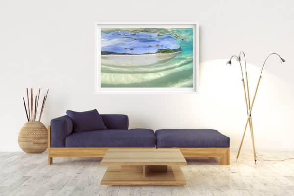 Paradise | Vanuatu - Box Frame (White) - With Border