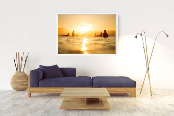 Sunset Slide | Byron Bay - Box Frame (White) - No Border