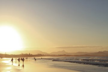 Sunset Surfers | Byron Bay