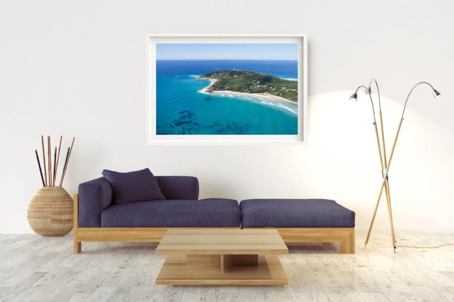 The Cape | Byron Bay - Box Frame (White) - With Border