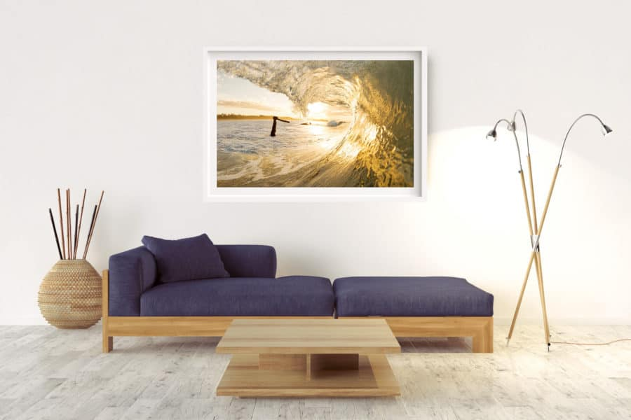The Wreck Gold | Byron Bay - Box Frame (White) - Border