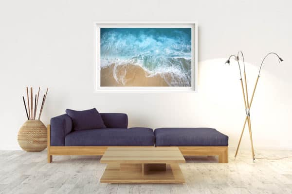 Verge | Pacific Ocean - Box Frame (White) - With Border