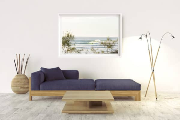 Winter Lines | Lennox Head -Box Frame - White With Border