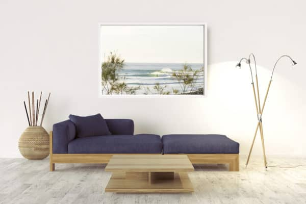 Winter Lines | Lennox Head -Box Frame - White No Border